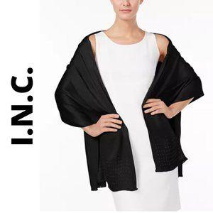 INC Gemstone Pashmina Wrap, Black NWT